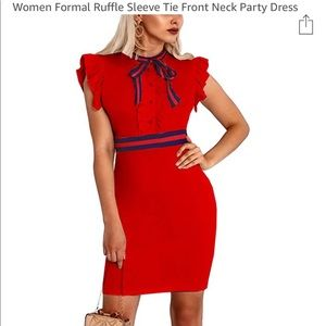 Cute body con dress. Fashion look. Fitted and fun